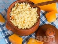 Рецепта Бърза десерт от варено просо, тиква и сметана